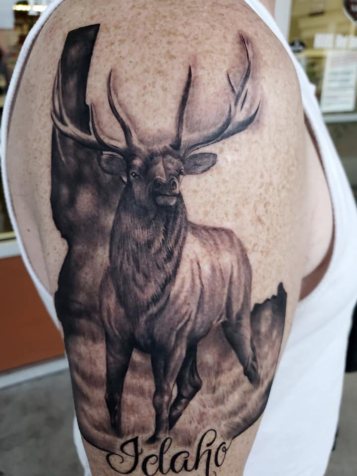 boise tattoo, wildlife tattoo
