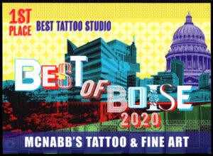 McNabbs Tattoo Best of Boise 2020